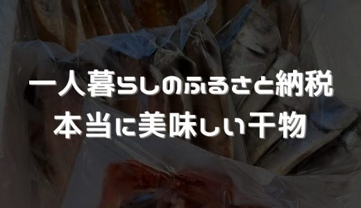 おすすめのふるさと納税返礼品〜お魚編【国産干物詰め合せセット】